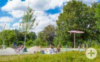 Bürgerpark Wasserspielplatz Sommer