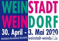Plakat Weinstadt Weindorf 2020