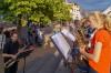 Ensemble der Musikschule in Beutelsbach auf dem Marktplatz