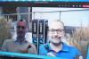 Betriebleiter der Stadtwerke Thomas Meier (inks) und Oberbürgermeiser Michael Scharmann (rechs) in einer Videokonferenz