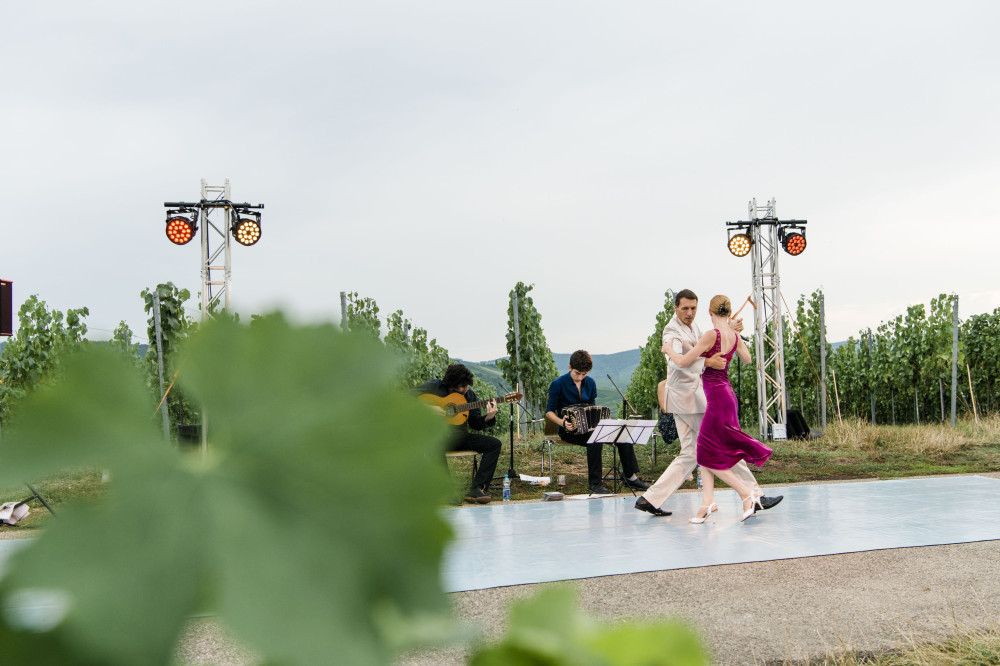 Tänzer in den Weinbergen