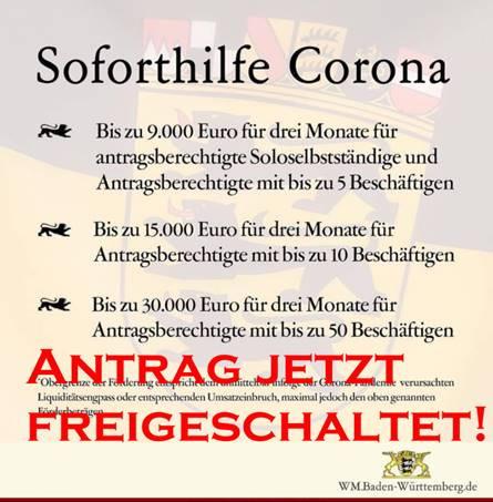 Soforthilfe Corona