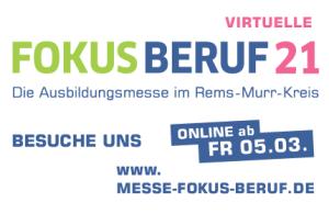 Logo der virtuellen Ausbildungsmesse FOKUS BERUF 21